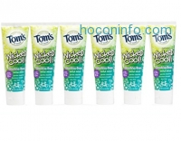 ihocon: Tom's of Maine Natural Wicked Cool! Fluoride Free Children's Toothpaste, Mild Mint,  4.2 Ounce, Pack of 6
