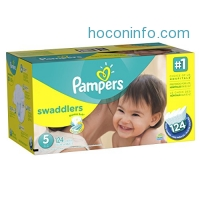 ihocon: Pampers Swaddlers Diapers Size 5, 124 Count