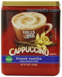 ihocon: Hills Bros Cappuccino, Decaf French Vanilla, 16 Ounce