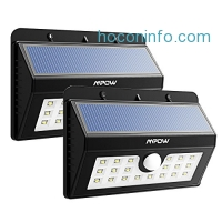 ihocon: Mpow Solar Motion Sensor Lights 2-Pack LED動作感應太陽能庭園燈