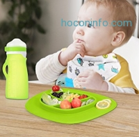 ihocon: Vbestlife Silicone Kids Placemats, Suctions to Table 吸盤固定矽膠兒童餐盤