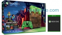 ihocon: Xbox One S 1TB Console – Minecraft Limited Edition Bundle  + Free Select Game