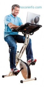 ihocon: FitDesk Desk Exercise Bike with Massage Bar含工作桌健身脚踏車