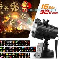 ihocon: Elec3 Christmas Projector Light, 16 Exclusive Design Slides 聖誕投影燈