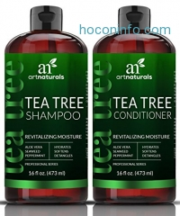 ihocon: ArtNaturals Tea-Tree-Oil Shampoo and Conditioner Set茶樹精油洗髮組