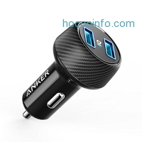 ihocon: Anker Ultra-Compact 24W 2-Port Car Charger汽車充電器