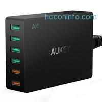 ihocon: AUKEY USB Charger with Dual Quick Charge 3.0 Ports & 4 USB Ports 充電器