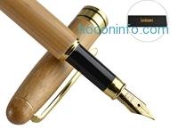 ihocon: Leedemore Natural Handcrafted Bamboo Fountain Pen Set原本鋼筆禮盒