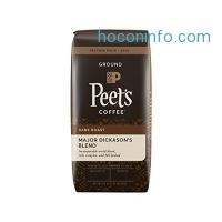 ihocon: Peet's Coffee Peetnik Pack, Major Dickason's Blend, Dark Roast, Ground, 20oz. Bag