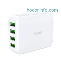 ihocon: AUKEY USB Wall Charger 4-Port充電器