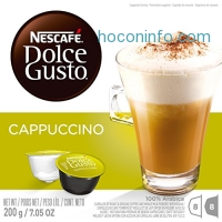 ihocon: NESCAFÉ Dolce Gusto Coffee Capsules – Cappuccino – 48 Single Serve Pods, (Makes 24 Specialty Cups)      48 Count