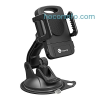 ihocon: TaoTronics TT-SH08U Car Phone Mount Holder for Windshield and Dashboard - Extra Sticky Pad, Adjustable Viewing Angle, Suitable for Smartphone