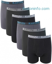 ihocon: KAYIZU Men's Cotton Boxer Brief (6-Pack)