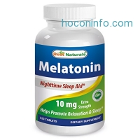 ihocon: Best Naturals Melatonin 10mg 120 Tablets - Drug-Free Nighttime Sleep Aid - Melatonin for sleep and relaxation 褪黑素