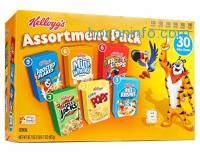 ihocon: Kellogg's Breakfast Cereal Assortment Pack (Single-Serve Boxes, 30-Count)