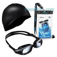 ihocon: Mpow Swimming Kit, 1 Pair of Swim Goggles, 1 Swimming Cap and 1 Waterproof Case