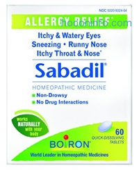 ihocon: Boiron Sabadil allergy relief tablets, 60 Count
