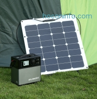 ihocon: Suaoki 400Wh/120,000mAh Portable Solar Generator Lithium ion Power Source Power Supply with Quiet 300W DC/AC Inverter, 12V Car, DC/AC/USB Outputs, Charged by Solar Panel/AC Outlet/Cars太陽能發電機