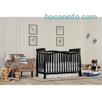 ihocon: Dream On Me Violet 7 in 1 Convertible Life Style Crib, Black