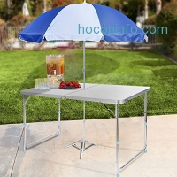 ihocon: Homdox Folding Table Height Adjustable Aluminum Camping Table 可調高度折疊桌
