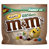 ihocon: M&M'S Peanut Chocolate Candy With Colors From Natural Sources Family Size 19.2-Ounce Bag