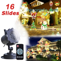 ihocon: Christmas Projector LED Light with 16 Slides,Waterproof, Remote Control聖誕投影燈