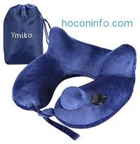 ihocon: Ymiko Height-Adjustable Washable Inflatable Travel Pillow充氣式旅行枕
