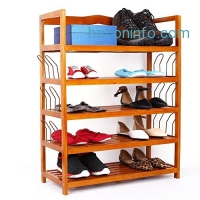 ihocon: Homfa 5-Tier Wooden Shoe rack 五層木製鞋架