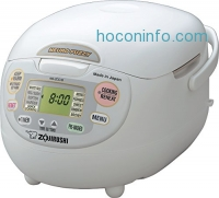 ihocon: Zojirushi NS-ZCC18 10-Cup Neuro Fuzzy Rice Cooker, 1.8-Liters, Premium White