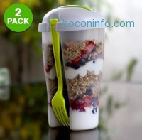 ihocon: 2-Pack: Home Basics 3 Piece Salad-To-Go Container Set