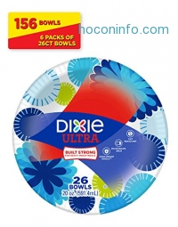 ihocon: Dixie Ultra Paper Bowls, 20 Ounces, 156 Count (6 Packs of 26 Bowls)