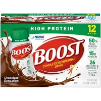 ihocon: Boost High Protein Complete Nutritional Drink,  Chocolate Sensation, 8 fl oz Bottle, (Pack of 24)