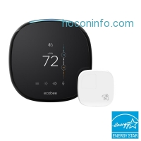 ihocon: ecobee ecobee4 7-Day Smart Wi-Fi Programmable Thermostat with Room Sensor and Built-In Alexa Voice Service 7天智能室內恆温器