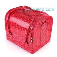 ihocon: Mvpower Professional Large PU Leather Cosmetic Makeup Box專業化妝盒
