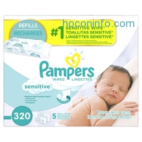 ihocon: Pampers Baby Wipes Sensitive 5X Refill, 320 Count