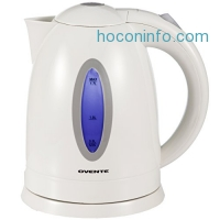 ihocon: Ovente 1.7 Liter BPA Free Cordless Electric Kettle, White (KP72W)