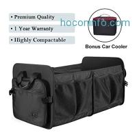 ihocon: Foldable Waterproof Cargo Trunk Organizer + Bonus Car Cooler