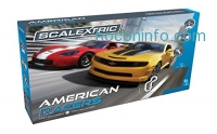 ihocon: Scalextric American Racers 1:32 Slot Car Race Track C1364T Playset