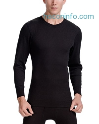 ihocon: CYZ Men's Mid Weight Waffle Thermal Long Sleeve Crew Top男性衛生衣