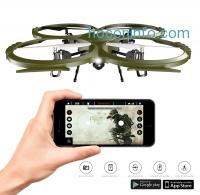 ihocon: Kolibri U818A Discovery Delta-Recon Tactical Edition Wi-Fi Quadcopter with 720p HD Camera (Military Matte Green)空拍機