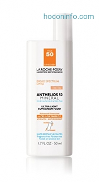 ihocon: La Roche-Posay 理膚寶水Anthelios 50 Mineral Sunscreen for Face, Ultra-Light Fluid SPF 50 with Antioxidants, 1.7 Fl. Oz.礦物防曬乳含抗氧化劑