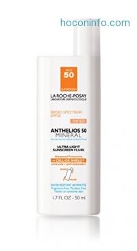 ihocon: La Roche-Posay 理膚寶水Anthelios 50 Mineral Sunscreen for Face, Ultra-Light Fluid SPF 50 with Antioxidants, 1.7 Fl. Oz.礦物防曬乳含抗氧化劑