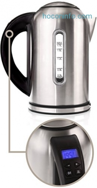 ihocon: Electric Kettle with Variable Temperature Control 不銹鋼電熱水瓶
