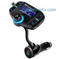 ihocon: Car Bluetooth FM Transmitter汽車藍芽接收器/免持聽筒