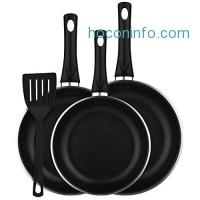 ihocon: Cymas 3-Piece Nonstick Fry Pan Set with Silicone Spatula 不沾鍋組