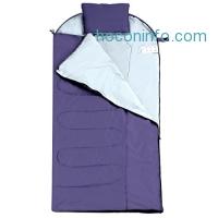 ihocon: Enkeeo Camping Sleeping Bag with Pillow - Temperature Range 30-40°F睡袋含枕頭
