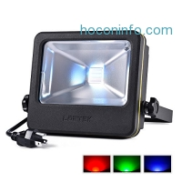 ihocon: LOFTEK RGB LED Security Floodlight 16 Colors Changing and 6 Levels Adjustable Brightness