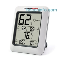 ihocon: ThermoPro TP50 Hygrometer Thermometer Indoor Humidity Monitor with Temperature Gauge Humidity Meter