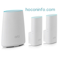 ihocon: NETGEAR Orbi Home WiFi System: AC2200 Tri-Band Home Network - Router & 2x Wall Plug Satellites. Up to 5,000 sq ft of WiFi Coverage (RBK33). Works with Amazon Alexa