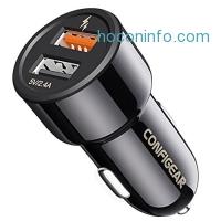 ihocon: Configear Dual Port 3.0 Car Quick Charger 汽車快速充電器